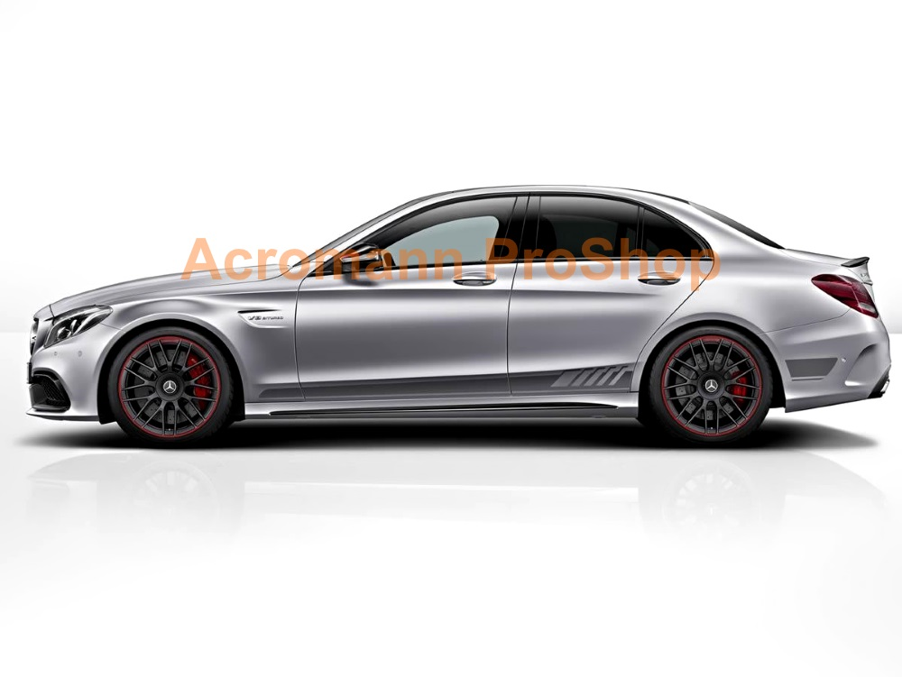 AMG W205 S205 C63s 4dr Edition1 Side Stripes Door Decals Sticker